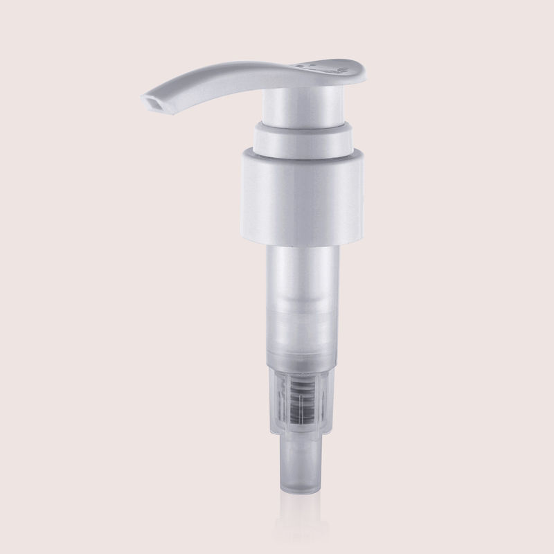 High Viscosity Liquid Plastic Lotion Soap Dispenser Pumps Ribbed Smooth Aluminium JY310-08